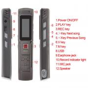C97 OEM J809 mini digital voice recorder 8Gb internal memory + mp3