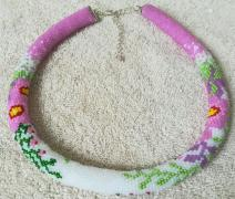 "Harness necklace beaded ""Taste of summer"""