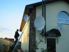 Installation of satellite antennas and T2 in the Kiev district of Odessa