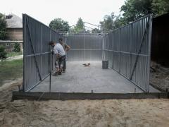 Металлический гараж из профнастила