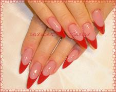 NAIL EXTENSION FRENCH MANICURE (FRENCH) ACRYL GEL KIEV