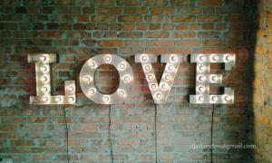 Объемные металлические буквы LOVE с подсветкой, в аренду г. Киев