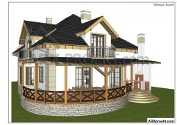 Projects country two-storey houses
