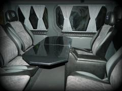 Table in minibus table transformer in car side table in bus