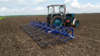 The coupling teeth of the harrows szb-10U, length is 10 meters for tractors YUMZ