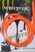The petrol hose 4mm orange (silicone) 1 meter