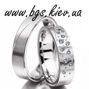 Wedding bands white gold with diamonds